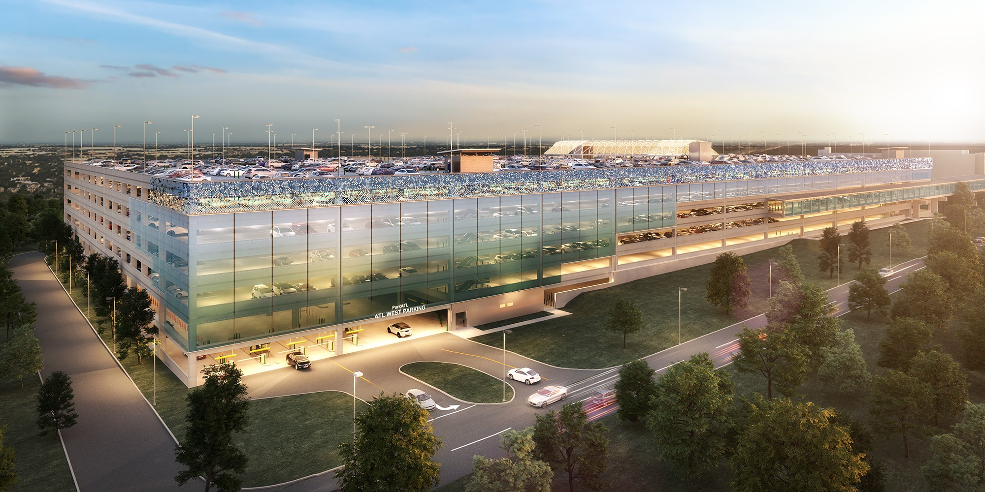 Hartsfield-Jackson Atlanta International Airport West Economy Parking Lot Water Relocation